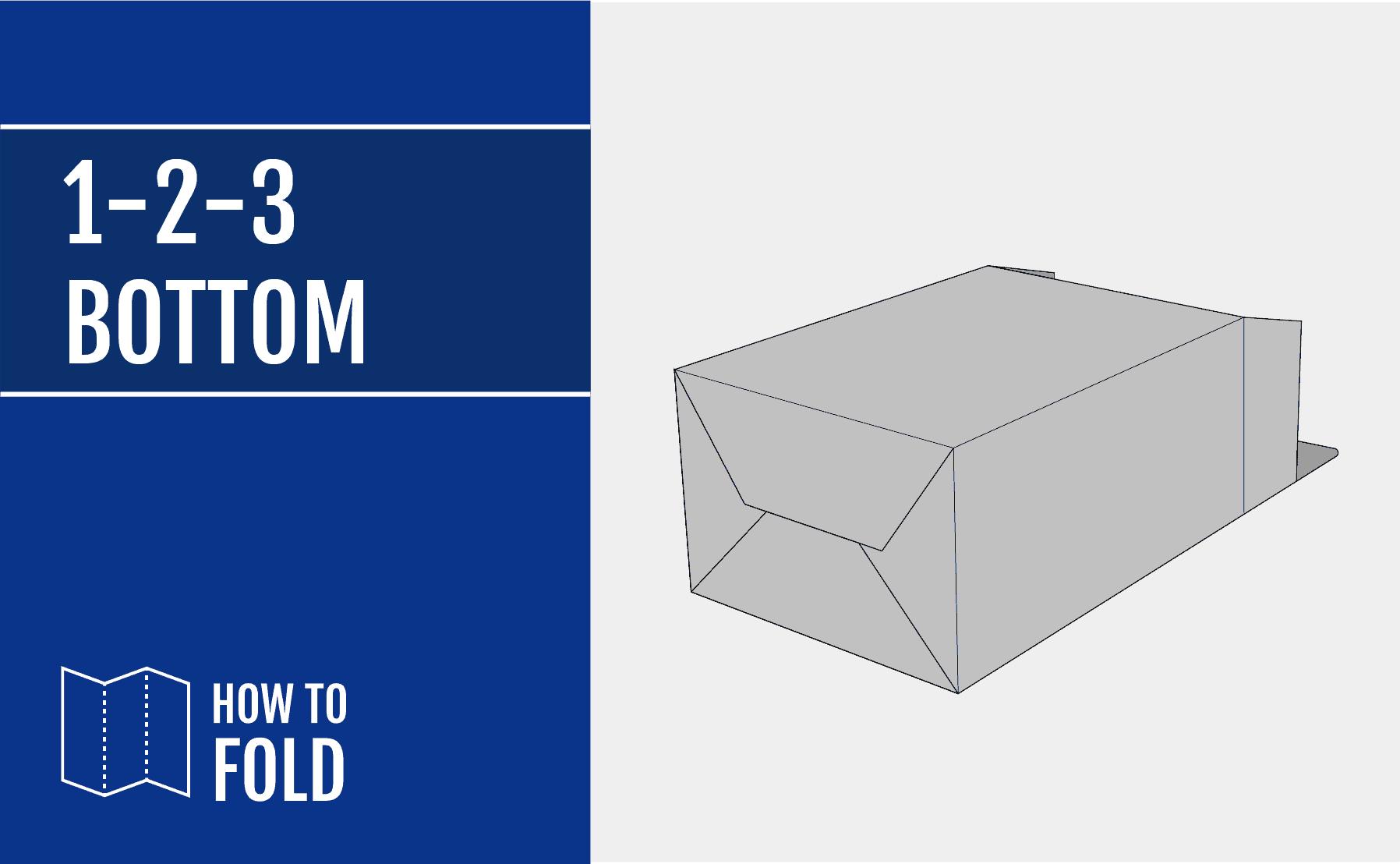 1-2-3-Bottom box how to fold