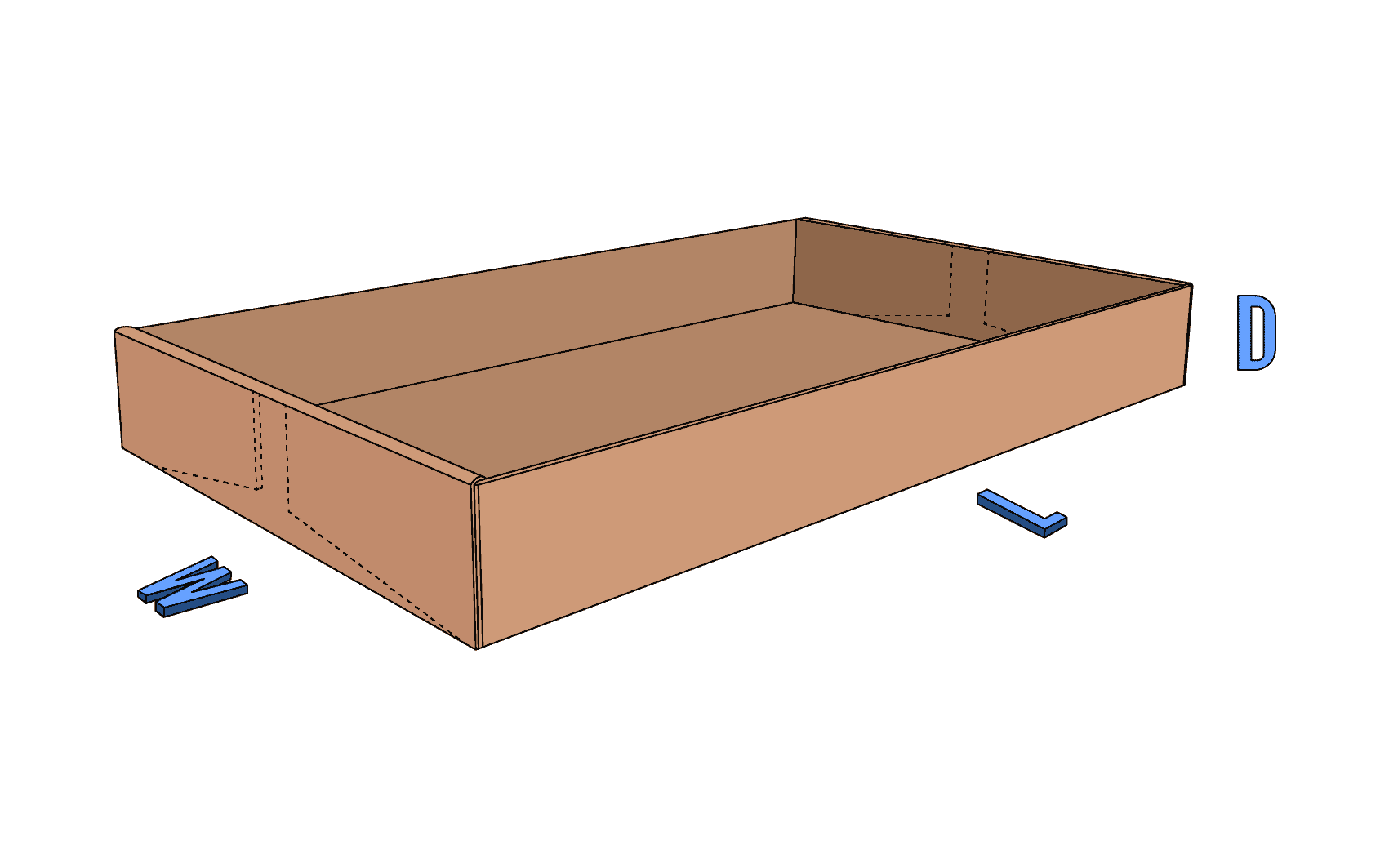 End-Roll Corrugated Tray Style