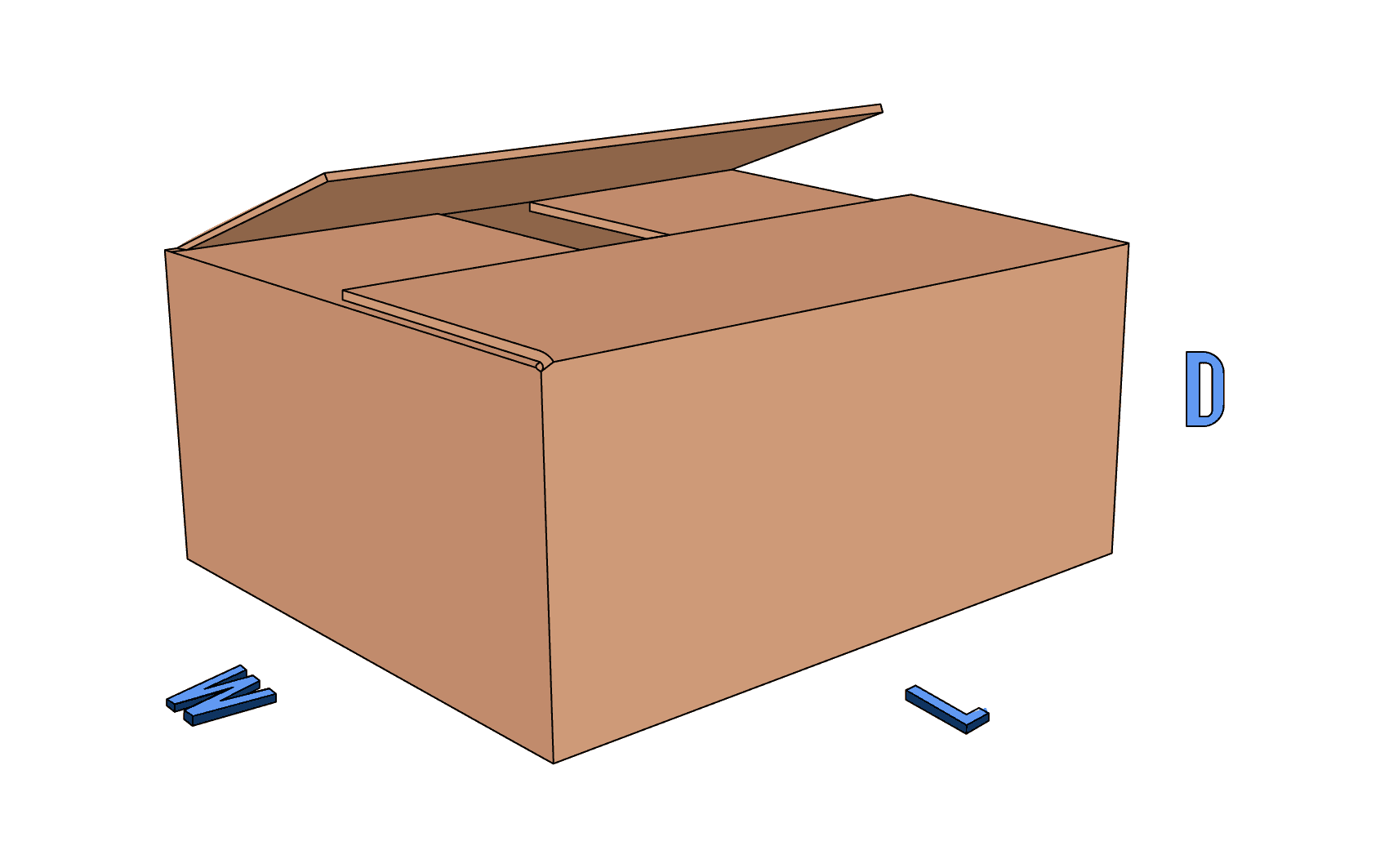 Regular Slotted Container (RSC) shipper