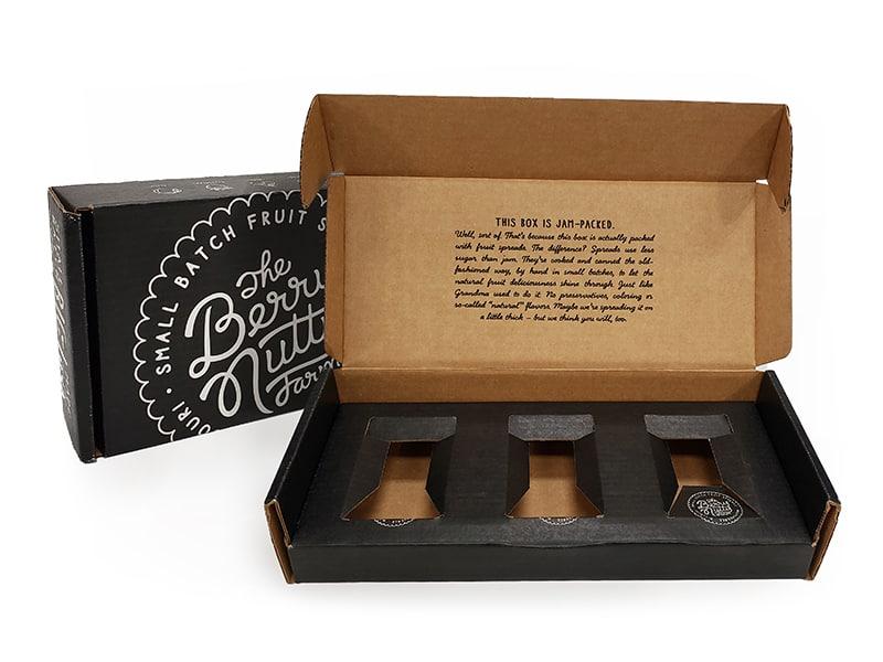 custom printed corrugated box insert for e-commerce jam