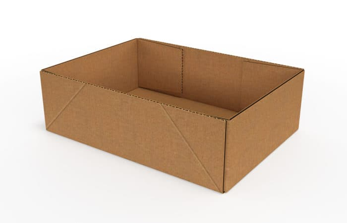 infold corrugated trays