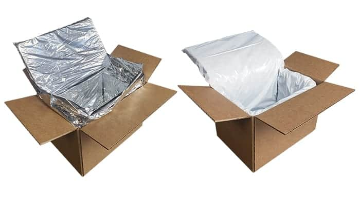 boxes with foam insulation and recycled cotton insulation