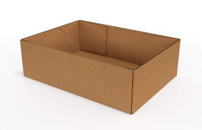 outfold corrugated trays