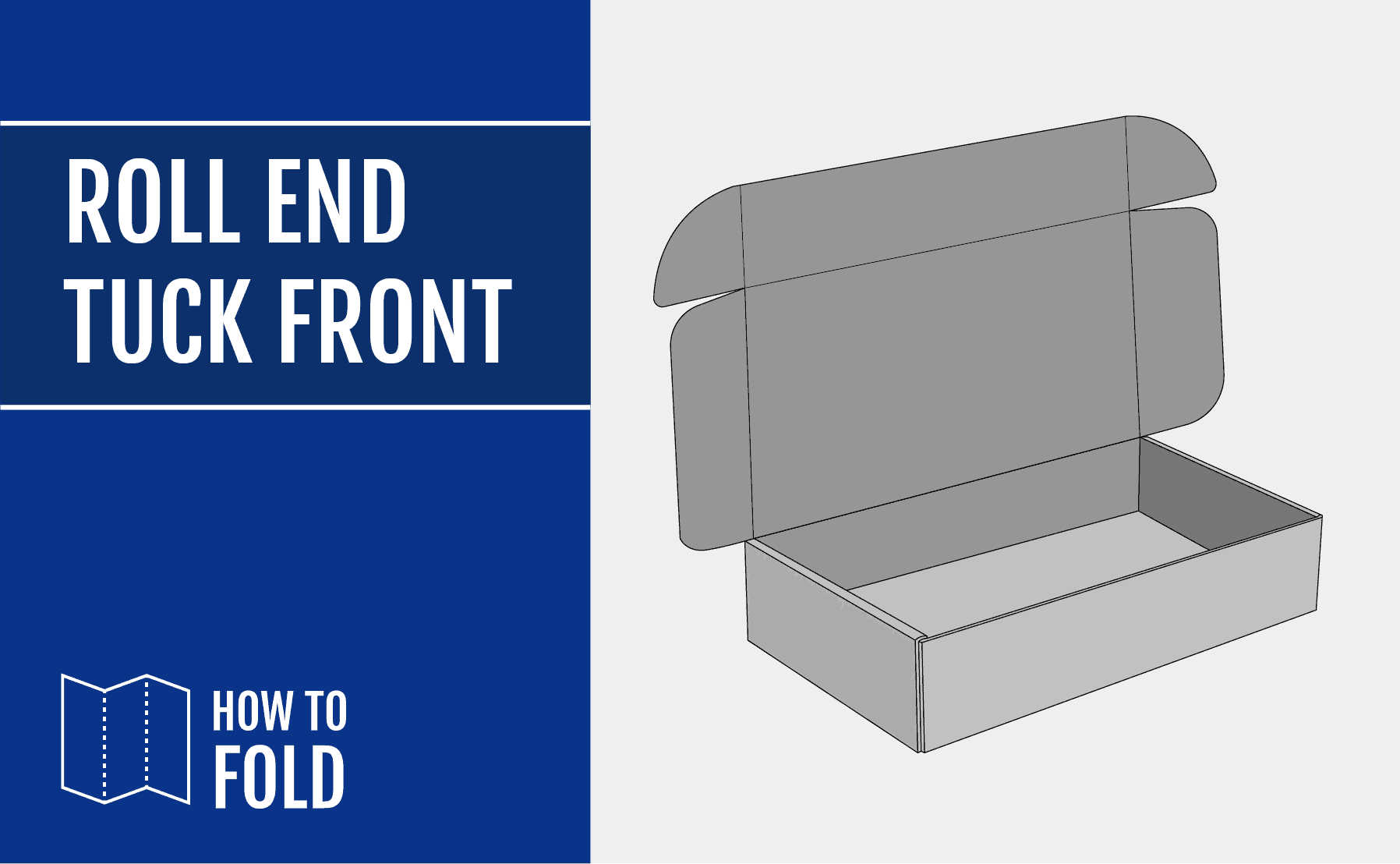 Roll-End-Tuck-Front mailer how to fold